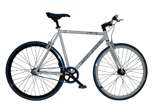 GOTTY Bicicleta Fixie FX-40, Cuadro Fixie Acero 28', Llantas Doble Pared, piñon Fijo, Bielas de Aluminio, tija de sillín de Aluminio, Color Blanco
