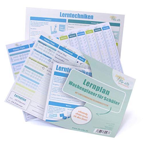 Lernplan - Wochenplaner für Schüler Vordruck (Abreißblock DIN A4)