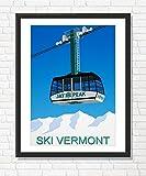 Steve Ash illustration Jay Peak, Vermont Ski Resort Poster (70cm x 100cm)