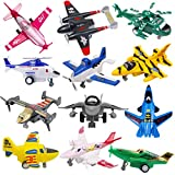 Pull Back Airplanes Playset, Plane Toys Variety Style , Helicopters, Stealth Bombers, Fighter Jets, Aircraft, Great as Gift for Children Boys Girls 2 3 4 5 6 7 8 Years Old, Party Favors ( Set of 16)