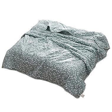NATURETY Light Comforter for Summer,Washable Duvet Bed Quilts Set (Green, Full/Queen)