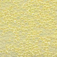 MIYUKI 丸特小 極小 シードビーズ 15/0 約1.5mm #514 ライトレモンアイス(セイロン中染) 20グラム バラ 約5,000粒入り