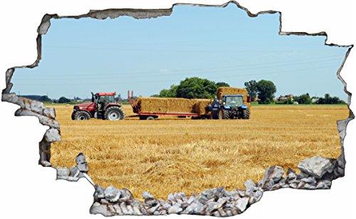 DesFoli Bauer Landwirt 3D Look Wandtattoo 70 x 115 cm Wanddurchbruch Wandbild Sticker Aufkleber C486