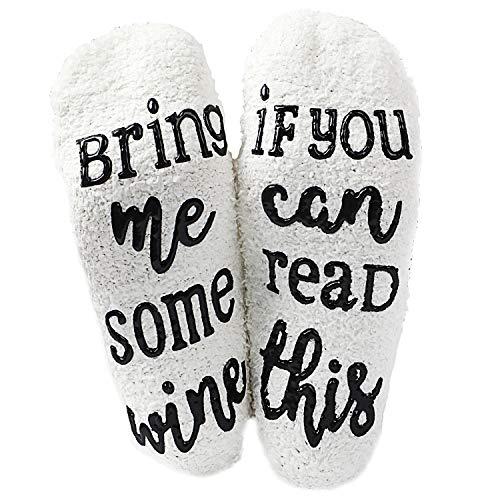 SATINIOR If You Can Read This Socks Flockige Warme Socken Romantischer Lustiger Anwesender Wein Liebhaber