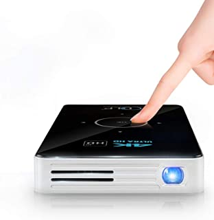 Portable Wireless Dlp Projector for Home Video Movies with Remote Control and Tripod, Built-in 50,000 Mah Battery