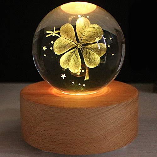 ACOMG Kristallkugel LED Nachtlichter Kindergeschenk Lampe Handysteuerung USB Lade Drahtlose Bluetooth Kugel Automatische Verfärbungsbasis,B