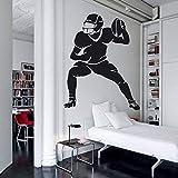 wZUN Autocollant Mural de Joueur de Football Vinyle Autocollant Mural Amovible Mural garçon Chambre Design décoration 42X33 cm
