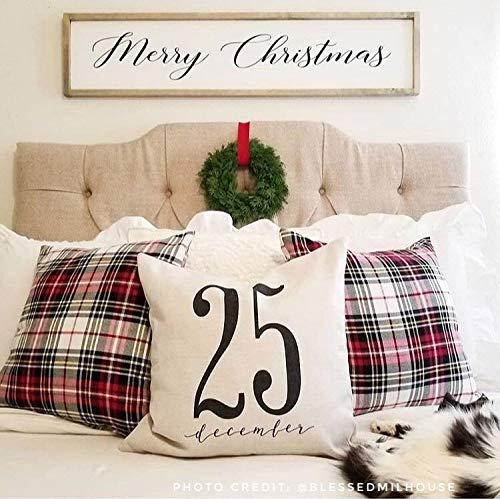 565pir 25. Dezember Weihnachtskissenbezug Weihnachten Wurfkissenbezug rustikal Weihnachten Land Weihnachtsschmuck Bauernhaus Weihnachten