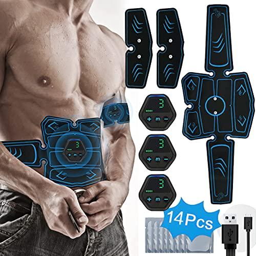 PHANXY Aparato de entrenamiento EMS para estimulación muscular, electroestimulación USB, estimulador muscular eléctrico,...