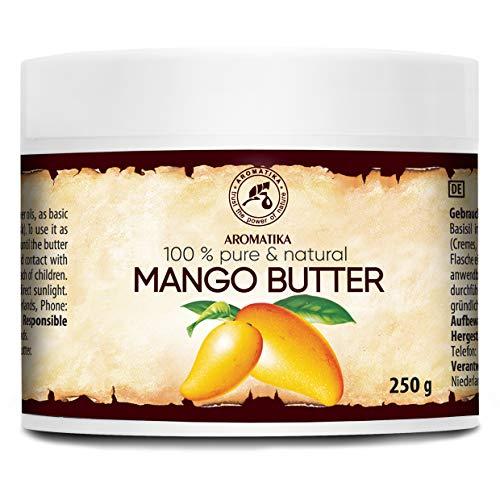 Manteca de Mango 250g - Puro & Natural - Mangifera Indica - Óleo Corporal - Hidratante Corporal - Aceite para el Cabello - Piel - Uñas - Labios - Cuidado Facial