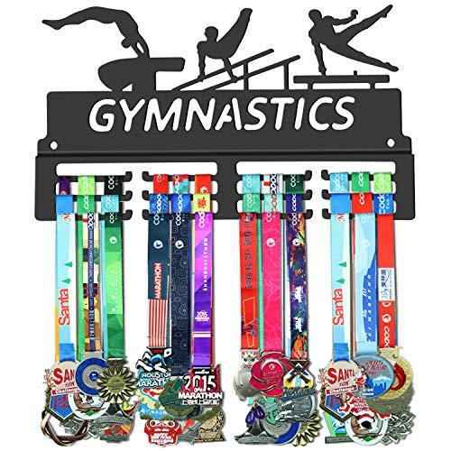 WEBIN - Colgador para medallas de gimnasia, metal de acero resistente, para montar en la pared, fácil de instalar, JP-ZH32, Gimnasia masculina, 15.7*0.6*9 inches