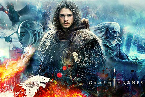 Spetich Game of Thrones in Legno 1000 Pezzi Puzzle Puzzle Personalizzati John Snow Adolescenti Giocattoli per Bambini Gift-38 * 52Cm-500 Piece
