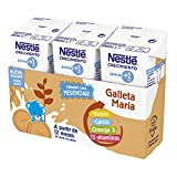 Nestlé Junior Junior Crecimiento 1 + Galleta María A Partir De 1 Año - Pack de 8 x 3 bricks de 180 ml - Total: 24 bricks x 180 ml