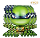 JoeYoo 6 Pcs Teenage Mutant Ninja Turtle Balloons, Turtle Party Decorations, Kids Panda Birthday Decorations,Baby Shower Party Favors
