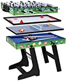 Multi Function 4 in 1 Combo Game Table, Soccer Foosball Table, Pool Table, Air Hockey Table, Table Tennis...