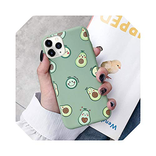 Funda de TPU suave para iPhone X, Xs Max XR 12 11 Pro Max SE 6 6S 7 8 Plus Fruit Peach Love Heart Pattern Cover Case Cover-IK86-NiuYouGuoMor-para iPhone 11