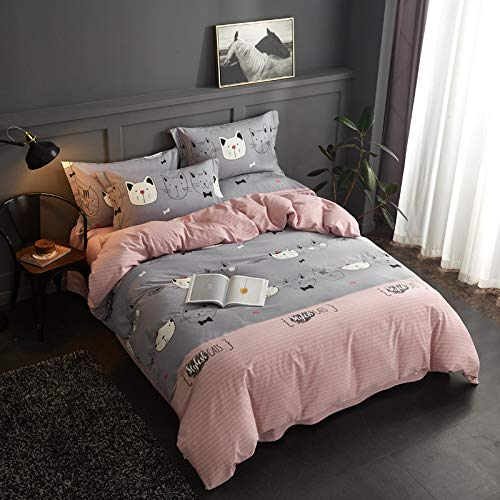 yaonuli Baumwolle vierteilig dick Baumwolle Baumwolldruck Öko-Aktivschleifen vierteilig Set Welt - Puder 2 m Bettbezug 220 * 240