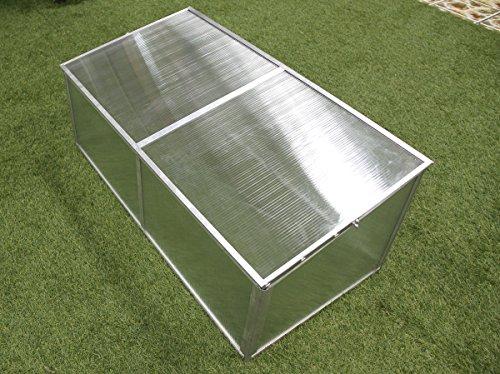 Zenport SH7005-ZD Folding Aluminum Cold Frame, Foldable, 3.3 x 1.6 x 1.3-Feet Greenhouse, Clear