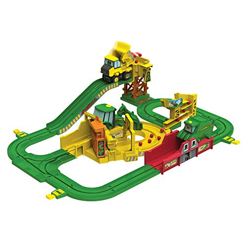 John Deere Tomy Big Loader Motorized Toy Train Set with Tractor & Magical Farm for Kids Fun Playtime  Multi