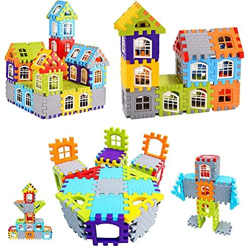 HRK Building Block Set, DIY Interlock Construction Design Model Maker Block Set Educational Toy for Kids Educational Learning Toy for 3 4 5 6 7 8 Year Kids Old Girls & Boys 50 Pcs