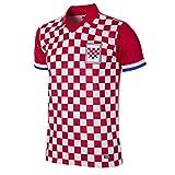 Copa Herren Croatia 1992 Football T-Shirt mit Retro-Fußballkragen, rot/weiß, M