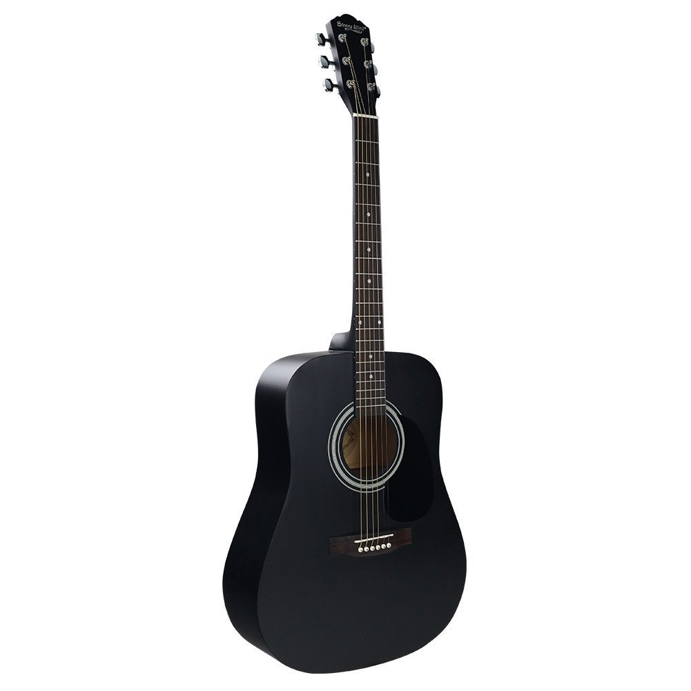 Strong Wind guitarra acústica negra 41 pulgadas tamaño completo ...