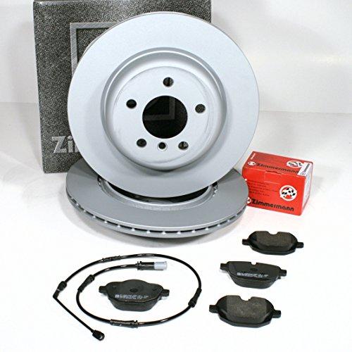 Zimmermann Bremsscheiben Ø 330 mm Coat Z/Bremsen + Bremsbeläge + Warnkabel für hinten/für die Hinterachse