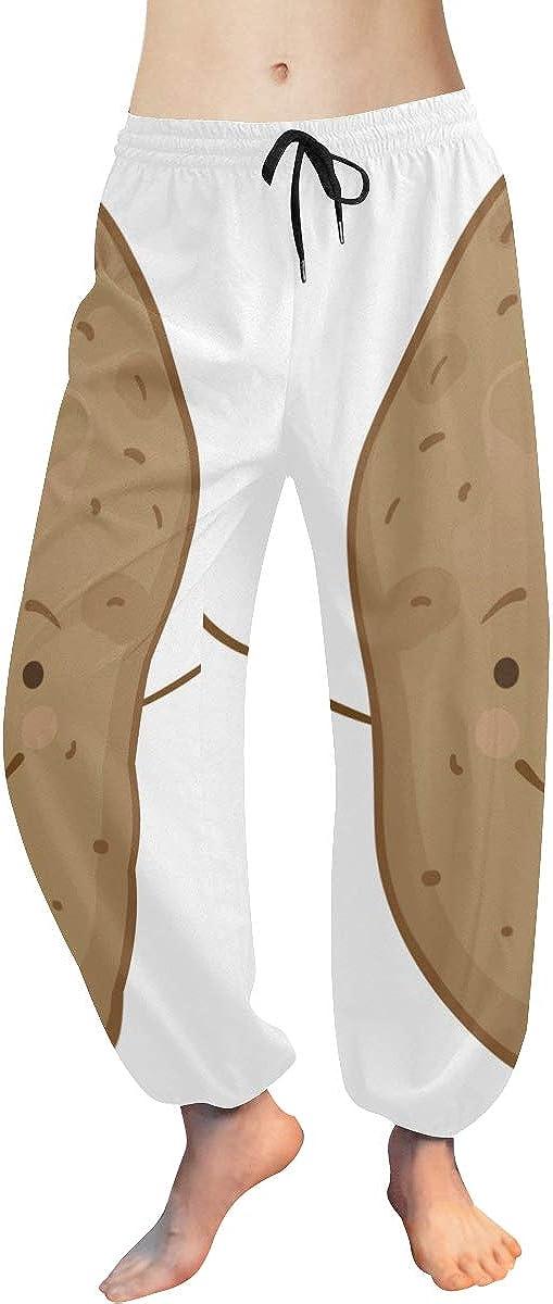 Harem Max 66% OFF Dance Pants for Women Cute Brown Cheap SALE Start A Vegetables Funny Potato