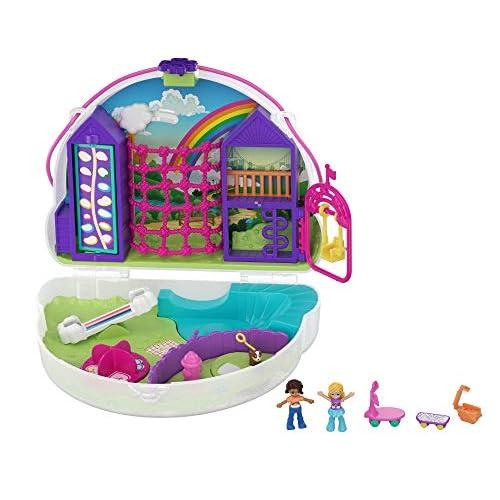 Polly Pocket- Cofanetto Borsetta dei Segreti Arcobaleno Giocattolo per Bambini 4+Anni, GKJ65