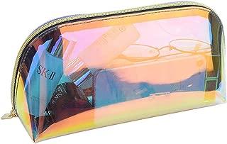 Holographic Iridescent Makeup Bag, Hologram Cosmetic Bags Toiletries Pouch Handy Makeup Pouch, Wristlets Organizer Women Clutch Evening Bag, Shell Shape