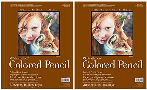 Strathmore 400 Series Colored Pencil Pad 9'x12' Wire Bound, 30 Sheets (2-(Pack))