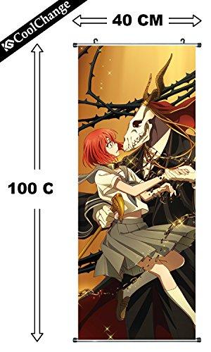 CoolChange Die Braut des Magiers Rollbild / Kakemono aus Stoff, 100x40cm, Motiv: Chise & Elias