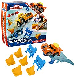 OVER 15+ FEET PER SLAM! - Slam the top of the racer and watch it go 15ft. Slam it again at any time and they go another 15ft BIG, DURABLE SLAM BUTTON - Awesome stunt jump design and realistic sounds. Ages 3 to 6 Years + HOW HIGH CAN YOU GO? - See how...