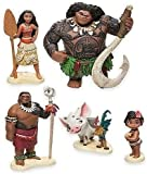 6Psc/Set Moana Action Figure Toy Doll,Moana Boy Girl Christmas Decoration Party Supplies ~3.5inch,Birthday Cake Topper