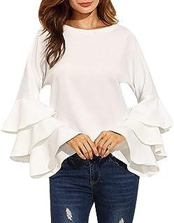 30f2d33ecce Mujer Camisa Negro Primavera Moda Casual Otoño Elegante Modernas Blusas  Fiesta Casual Camisas Colores Sólidos Cuello