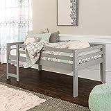 Walker Edison Alexander Classic Solid Wood Stackable Jr Twin over Low Loft Bunk Bed, Twin Size, Grey