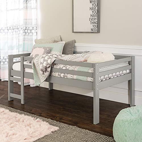 Walker Edison Furniture Company Solid Wood Low Loft Bed - Grey