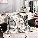 RESUXI Couverture Polaire Douce,Couverture bébé Couverture Enfants Dessin animé bébé Couverture d'agneau sieste-100x120cm_E