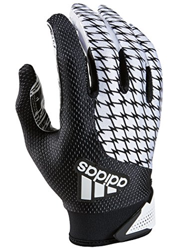 adidas Youth AdiFast 2.0 Receiver's Gloves, White/Black, Small