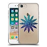 Head Case Designs Ufficiale PLdesign Blu Ombrato Floreale Scintillante Cover in Morbido Gel Compatibile con Apple iPhone 7 / iPhone 8 / iPhone SE 2020