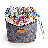 水彩毛筆 ペン 80色 ダブルペン先/ツイン先 塗り絵、描画、落書き用