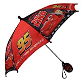 Disney Boys' Little Assorted Character Rainwear Umbrella, Red, Age 3-6