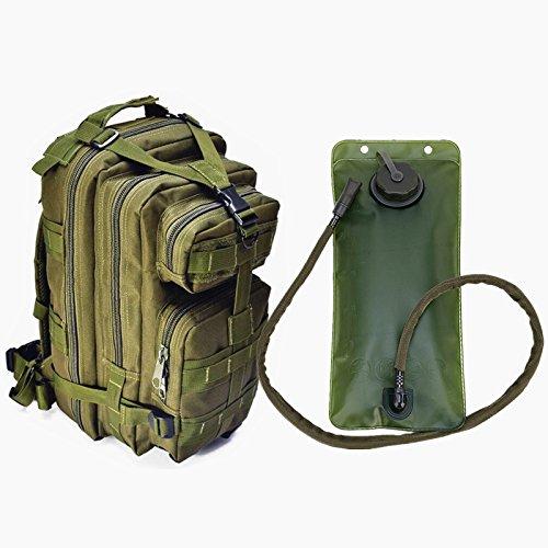 Mochila táctica estilo militar de Assault de FIRECLUB - Bolsa de agua de hidratación incluida * Mochila resistente al agua * MOLLE COMPATIBLE * Ideal para bolsa de salida de insectos o mochila