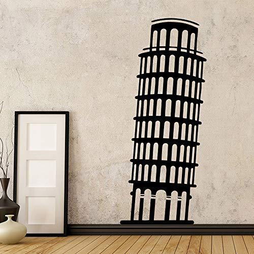 43 * 102 cm clásico de la Torre inclinada de Pisa Vinilo Wallpaper para la sala Decoración de la oficina Dormitorio decoración mural calcomanía accesorios papel tapiz