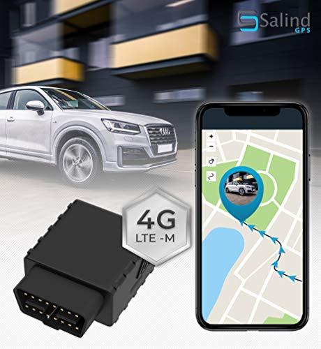 4G OBD GPS Tracker von Salind GPS, Auto- und Fahrzeug-Ortung, weltweit per App, Live-Tracking, 100 Tage Streckenspeicher, ohne Aufladen
