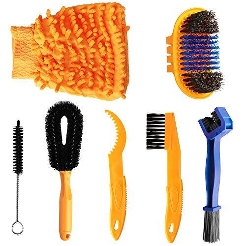 Luniquz Bicycle Cleaning Tools Set, Clean Brush Kit for Motorbike,MTB,Road Bike,BMX,Hybrid Chain/Crank/Tire/Sprocket