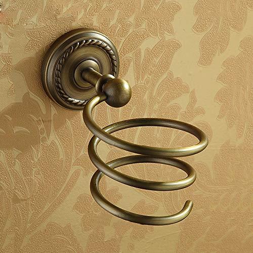 LifeX Support Mural Bronze Etagère de Rangement pour sèche-Cheveux Ancien Support de sèche-Cheveux sculpté Devant Le Miroir Sèche-Cheveux Socle en Spirale Toilette Sèche-Cheveux Suspension Suspension