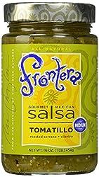 FRONTERA Gourmet Mexican Tomatillo Salsa, Medium, Keto Friendly, 16 oz.