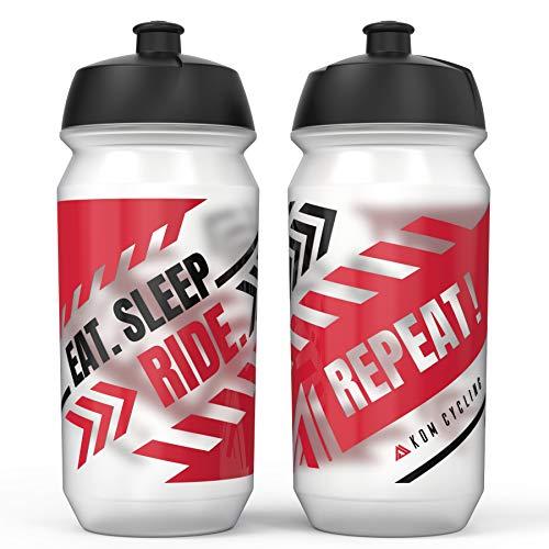 Botella de Agua KOM para Ciclismo, 500 ml, inspiración, Botella de Agua