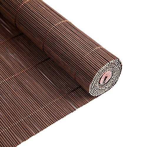 Gordijn van bamboe Parasol de Bambú, Persianas Enrollables Opacas con Accesorios, para Cenador/Pasillo/Exterior/Patio/Ventana/Puerta, 70/90/110/130 cm de Ancho (Size : 130x280cm)